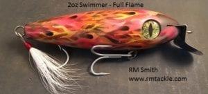 RM Smith Custom Plugs Full Flame 2oz Swimmer